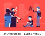 goths and punks subculture... | Shutterstock .eps vector #1186874530