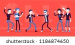 young men take part in a... | Shutterstock .eps vector #1186874650