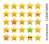 star shaped comic emoticons... | Shutterstock .eps vector #1186876840