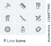 camping icon set and paper...