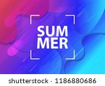 wavy geometric background.... | Shutterstock .eps vector #1186880686