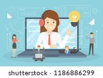technical support concept. idea ... | Shutterstock .eps vector #1186886299