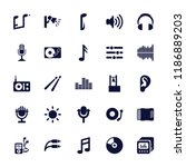 sound icon. collection of 25... | Shutterstock .eps vector #1186889203