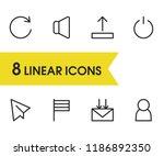 web icons set with upload ...