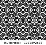 vector monochrome seamless... | Shutterstock .eps vector #1186892683