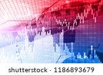 stock market graph. abstract...   Shutterstock . vector #1186893679