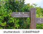 direction sign at dragon's back ... | Shutterstock . vector #1186894669