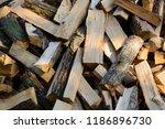 firewood background   chopped... | Shutterstock . vector #1186896730