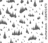 seamless pattern with... | Shutterstock .eps vector #1186901473