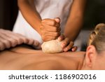 closeup of masseuse hands... | Shutterstock . vector #1186902016