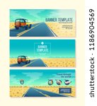 vector banner template with... | Shutterstock .eps vector #1186904569