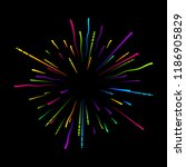 colorful firework on black... | Shutterstock .eps vector #1186905829
