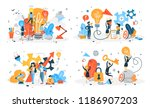 business people work in team... | Shutterstock .eps vector #1186907203