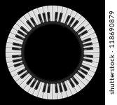 Piano Keys. Abstract...