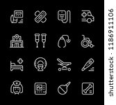 set of medical icons | Shutterstock .eps vector #1186911106