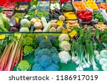 great choice of fresh... | Shutterstock . vector #1186917019
