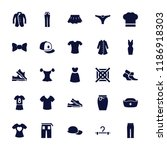 clothing icon. collection of 25 ... | Shutterstock .eps vector #1186918303