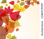 autumn  the leaves fall from... | Shutterstock .eps vector #1186919059