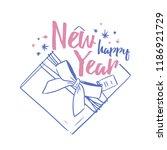 happy new year festive wish... | Shutterstock .eps vector #1186921729