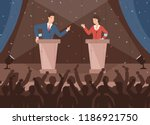 male and female politicians... | Shutterstock .eps vector #1186921750