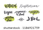 set of labels with written... | Shutterstock .eps vector #1186921759