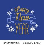 happy new year 2019 holiday... | Shutterstock .eps vector #1186921780