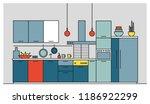 kitchen full of modern...   Shutterstock .eps vector #1186922299