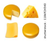 cheese isolated on white... | Shutterstock .eps vector #1186924540