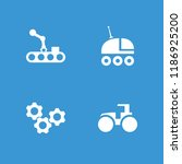 machinery icon. collection of 4 ... | Shutterstock .eps vector #1186925200