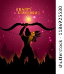 lord rama in happy dussehra... | Shutterstock .eps vector #1186925530