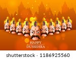 lord rama with ddcelebration... | Shutterstock .eps vector #1186925560