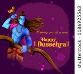lord rama in happy dussehra... | Shutterstock .eps vector #1186925563
