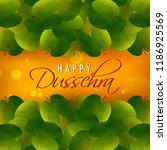 happy dussehra navratri... | Shutterstock .eps vector #1186925569