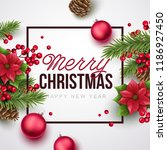 merry christmas and happy new... | Shutterstock .eps vector #1186927450