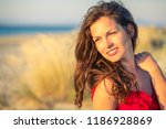 outdoor portrait of attractive... | Shutterstock . vector #1186928869