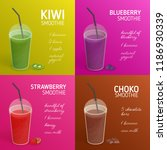 collection of smoothie or... | Shutterstock .eps vector #1186930339