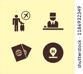 tourist icon. tourist vector... | Shutterstock .eps vector #1186932349