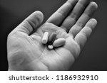 different pills  tablets....   Shutterstock . vector #1186932910