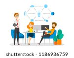 business people work together... | Shutterstock .eps vector #1186936759