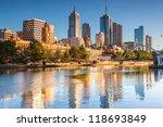 Melbourne Skyline Looking...