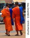vientiane laos 04 06 13  a monk ... | Shutterstock . vector #1186941790