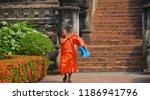 vientiane laos 04 06 13  a monk ... | Shutterstock . vector #1186941796