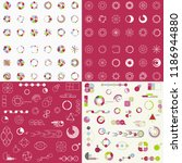 big set of different charts and ... | Shutterstock .eps vector #1186944880