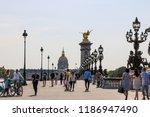 paris  france   28 august  ... | Shutterstock . vector #1186947490