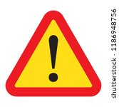 danger sign  warning sign ... | Shutterstock .eps vector #1186948756