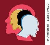 schizophrenia concept  symbol... | Shutterstock .eps vector #1186949620