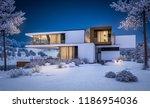 3d rendering of modern cozy... | Shutterstock . vector #1186954036