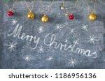 christmas decoration on...   Shutterstock . vector #1186956136