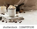 cocoa with condensed milk ... | Shutterstock . vector #1186959130