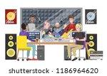 sound recording studio. music... | Shutterstock .eps vector #1186964620